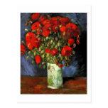 Florero con las amapolas rojas, Vincent van Gogh Tarjetas Postales