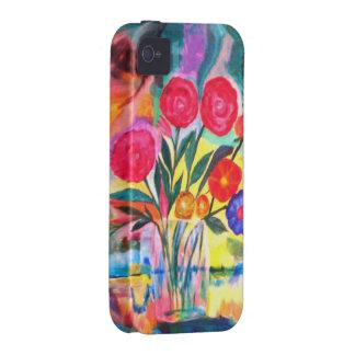 Florero con las flores Case-Mate iPhone 4 fundas