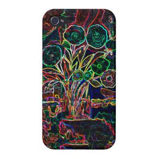 Florero con las flores - esquemas iPhone 4/4S fundas