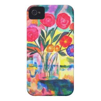 Florero con las flores iPhone 4 Case-Mate cobertura