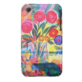 Florero con las flores iPhone 3 carcasas