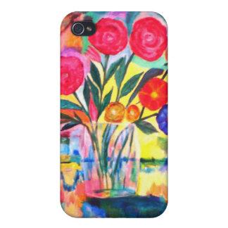 Florero con las flores iPhone 4 cobertura