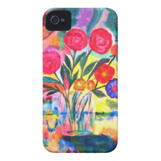 Florero con las flores iPhone 4 coberturas
