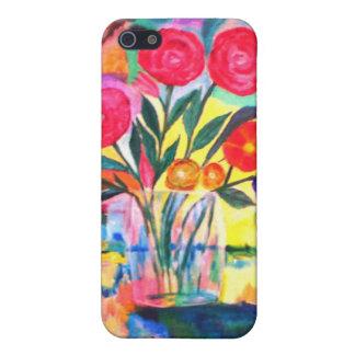 Florero con las flores iPhone 5 carcasa