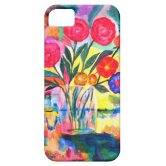 Florero con las flores iPhone 5 coberturas