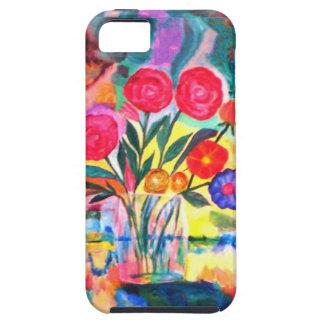 Florero con las flores iPhone 5 protector