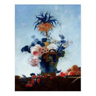 Florero con las flores tarjeta postal