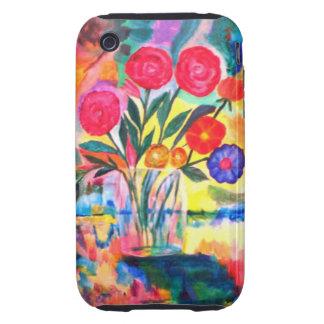 Florero con las flores tough iPhone 3 carcasas