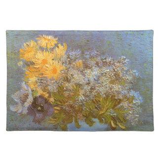 Florero con las lilas y las margaritas de Vincent Mantel Individual