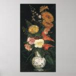 Florero con los asteres y Silva de Vincent van Gog Póster