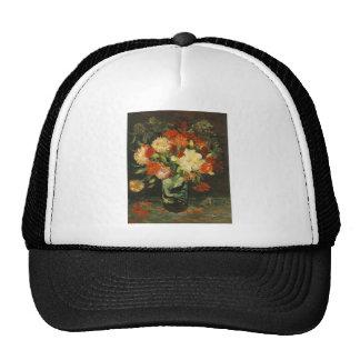 Florero con los claveles Vincent van Gogh Gorros Bordados