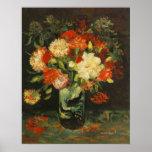 Florero con los claveles Vincent van Gogh Impresiones