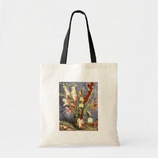 Florero con los gladiolos 1886, Vincent van Gogh Bolsa De Mano