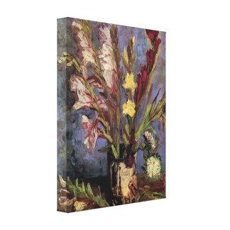 Florero con los gladiolos de Vincent van Gogh Impresion De Lienzo