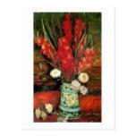 Florero con los gladiolos rojos, Vincent van Gogh Postales