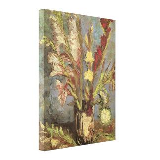 Florero con los gladiolos Van Gogh impresionismo
