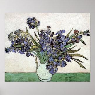 Florero con los iris de Vincent van Gogh (1890) Poster