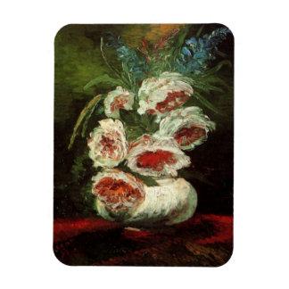 Florero con los Peonies, bella arte de Van Gogh Iman Rectangular