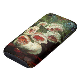 Florero con los Peonies, bella arte de Van Gogh Tough iPhone 3 Protector