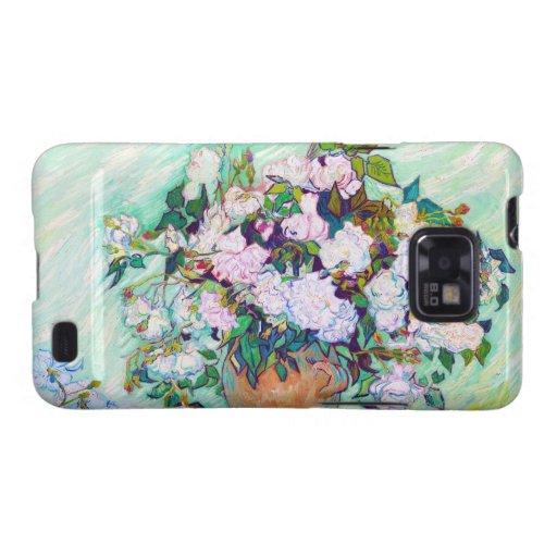 Florero con los rosas de Vincent van Gogh Samsung Galaxy S2 Fundas