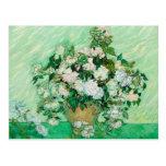 Florero con los rosas de Vincent van Gogh Postales