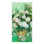 Florero con los rosas de Vincent van Gogh Tarjetas Fotograficas Personalizadas