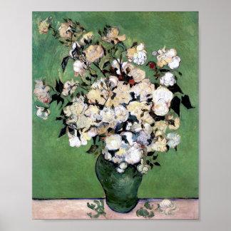 Florero con los rosas (F682), Vincent van Gogh Impresiones