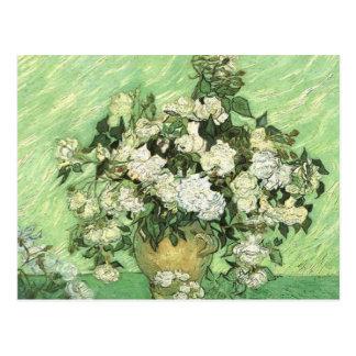 Florero con los rosas - Van Gogh Tarjetas Postales