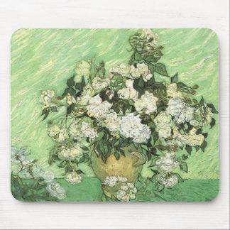 Florero con los rosas, Vincent van Gogh 1890 Tapete De Raton