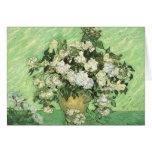 Florero con los rosas Vincent van Gogh Tarjeton