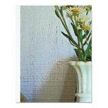 Florero con los Wildflowers Invitación 10,8 X 13,9 Cm