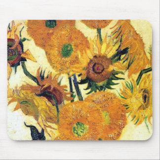 Florero con quince girasoles de Vincent van Gogh 1 Tapete De Ratones