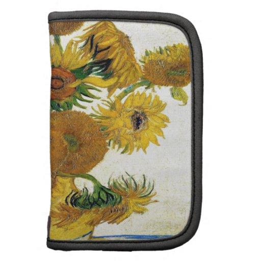 Florero con quince girasoles de Vincent van Gogh Planificadores