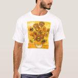Florero con quince girasoles de Vincent van Gogh Playera