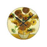 Florero con quince girasoles de Vincent van Gogh Reloj