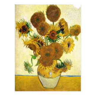 Florero con quince girasoles de Vincent van Gogh Postales