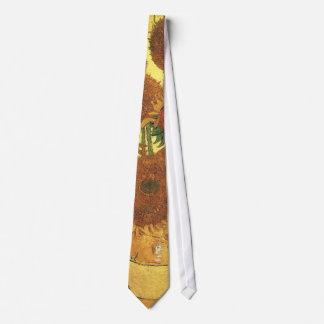 Florero con quince girasoles, Vincent van Gogh Corbatas Personalizadas