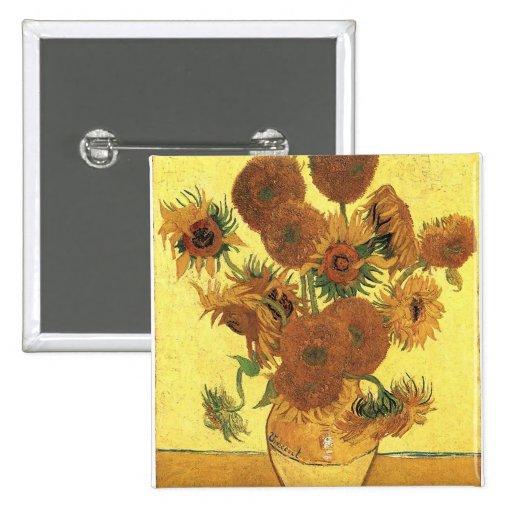 Florero con quince girasoles, Vincent van Gogh Pin