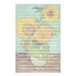 Florero con tres girasoles, Vincent van Gogh Papeleria Personalizada