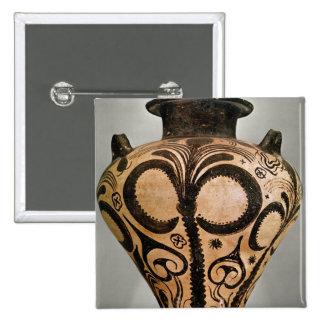 Florero con una decoración floral, de Mycenae Pin Cuadrada 5 Cm