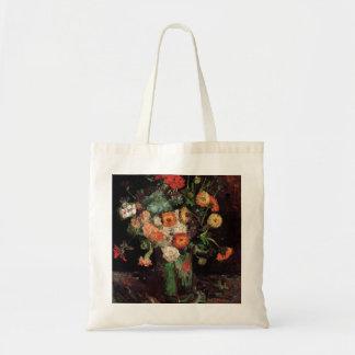 Florero con Zinnias y geranios de Van Gogh Bolsas De Mano