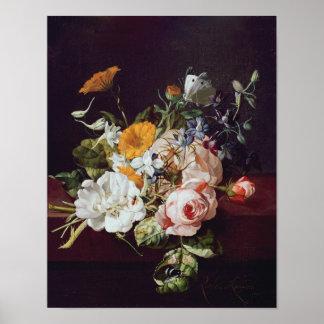 Florero de flores, 1695 póster