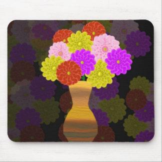 Florero de flores alfombrillas de raton