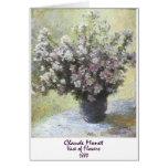 Florero de flores de Claude Monet Felicitación