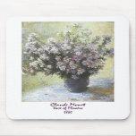 Florero de flores de Claude Monet Tapete De Raton