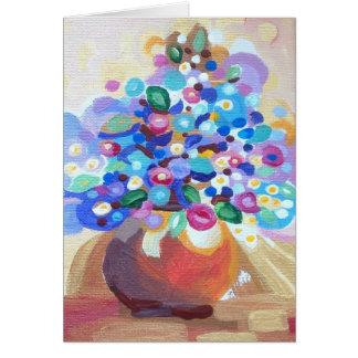 Florero de flores - el día de madre tarjetón