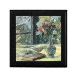 Florero de flores en la ventana - 1881 caja de recuerdo