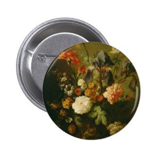 Florero de flores II Pin Redondo 5 Cm