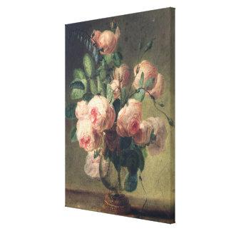 Florero de flores impresión en lona