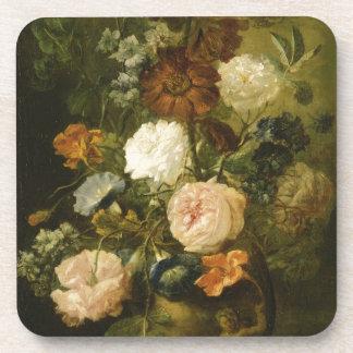 Florero de flores posavasos de bebidas